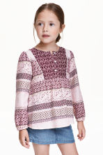 Patterned blouse - Burgundy - Kids | H&M GB 1