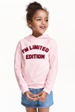 Hooded top - Light pink - Kids | H&M CN 1