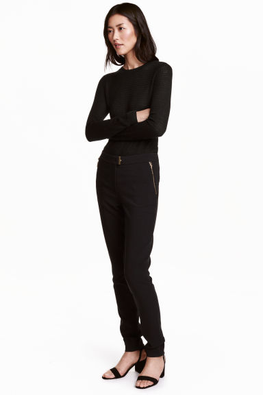 Woven trousers - Black - Ladies | H&M CN 1
