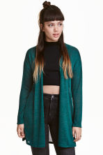 Fine-knit cardigan - Emerald green - Ladies | H&M CN 1