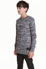 Knitted jumper - Dark grey marl -  | H&M CN 1