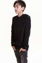 Knitted jumper - Black - Kids | H&M CA 1