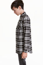 Checked cotton shirt - Black/Checked - Kids | H&M IE 1