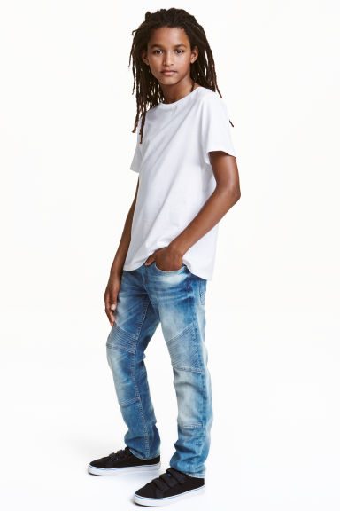Slim Biker Jeans - Light denim blue - Kids | H&M CN 1