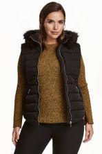 H&M+ Padded gilet - Black - Ladies | H&M CN 1