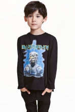 Long-sleeved T-shirt - Black/Iron Maiden - Kids | H&M CN 1
