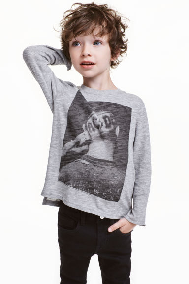 Long-sleeved T-shirt - Grey AC/DC - Kids | H&M CN 1