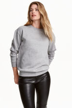 Sweatshirt - Grey marl - Ladies | H&M 1