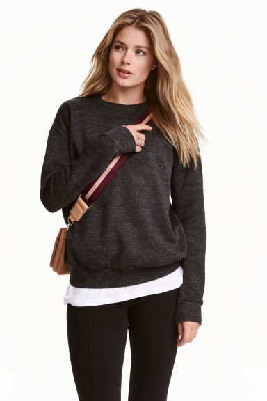 Sweatshirt - Dark grey marl - Ladies | H&M 1