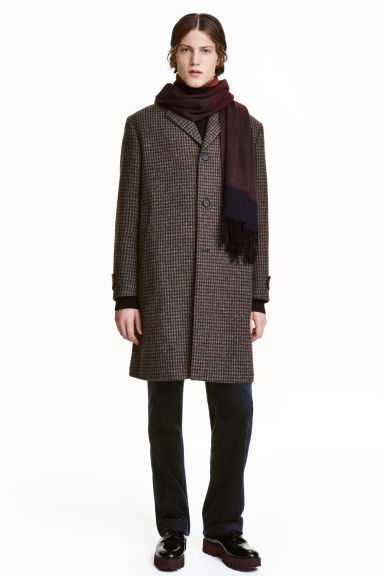 Cappotto in misto lana - Bordeaux -  | H&M IT