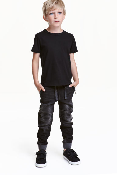 Joggers in denim - Nero Washed out - BAMBINO | H&M IT 1