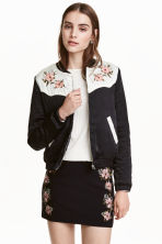 Embroidered bomber jacket - Black - Ladies | H&M GB 1