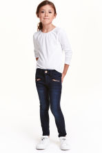 Skinny Fit Biker Jeans - Dark denim blue - Kids | H&M CN 1