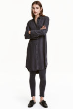 Lyocell shirt dress - Black denim - Ladies | H&M CN 1