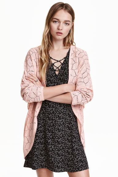 Lace cardigan - Old rose - Ladies | H&M CN 1
