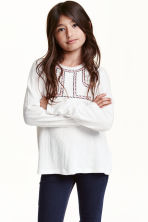 Crinkled top - White - Kids | H&M CN 1