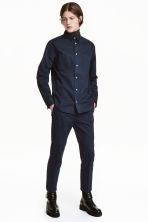Camicia in cotone con taschini - Blu scuro - UOMO | H&M IT 1