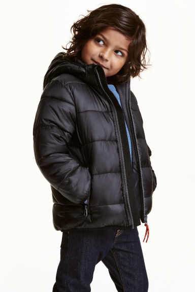 Padded winter jacket - Black -  | H&M CN 1