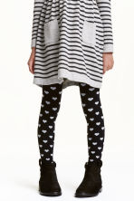 2-pack tights - Black/Heart - Kids | H&M CN 1