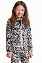 Fleece jacket - Leopard print - Kids | H&M CN 1