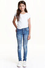 Super Skinny Fit Biker Jeans - Denim blue - Kids | H&M CN 1