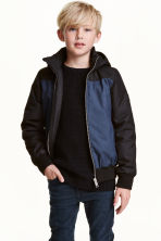 Padded jacket - Dark blue marl - Kids | H&M CN 1