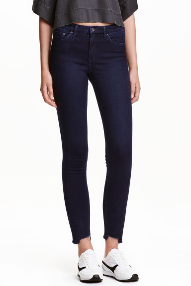 Skinny Regular Twisted Jeans - Blue-black - Ladies | H&M CN 1