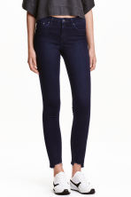 Skinny Regular Twisted Jeans - 蓝黑色 - 女士 | H&M CN 1
