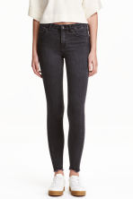 Skinny Regular Twisted Jeans - Black washed out - Ladies | H&M CN 1