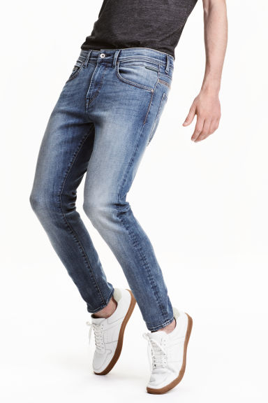 Tech Stretch Slim Low Jeans - Denim blue - Men | H&M CN