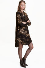 Long-sleeved tunic - Black/Patterned - Ladies | H&M CN 1