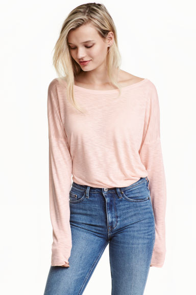 Jersey top - Powder pink - Ladies | H&M CN