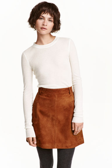 Ribbed top in a lyocell blend - Natural white - Ladies | H&M CN 1