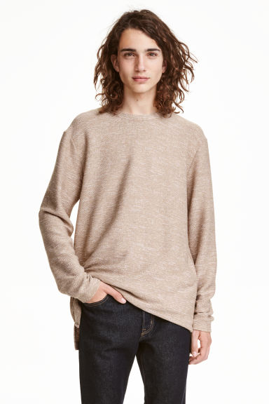 Jacquard-knit jumper - Beige - Men | H&M CN 1