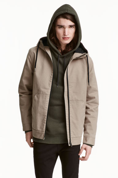 Hooded twill jacket Model