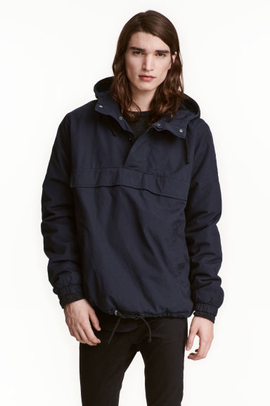 Fleece-lined anorak - Dark blue - Men | H&M CN 1