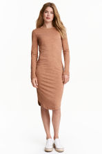 Marled jersey dress - Dark beige - Ladies | H&M CN 1