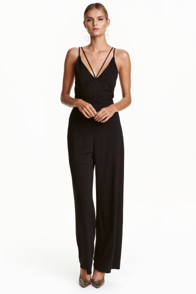 Strappy jumpsuit - Black - Ladies | H&M CN 1