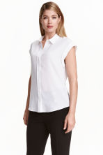 Silk blouse - White - Ladies | H&M CN 1