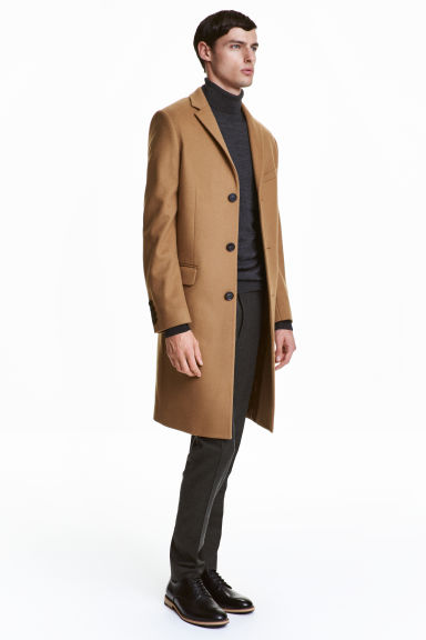 Cashmere-blend coat - Camel - Men | H&M GB