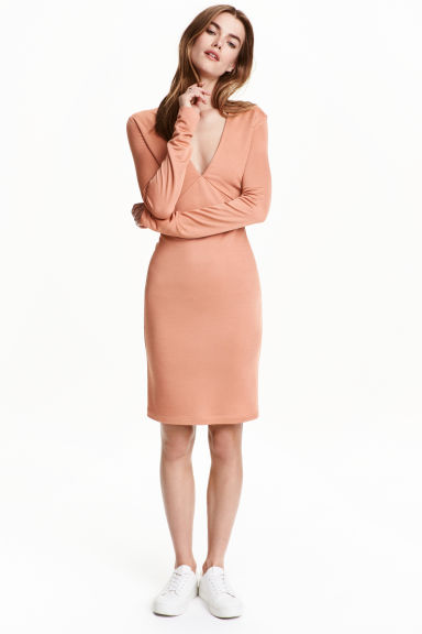 Fitted dress - Apricot - Ladies | H&M CN 1