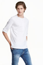 Henley shirt - White - Men | H&M CN 1