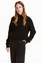 Mohair-blend jumper - Black -  | H&M GB 1