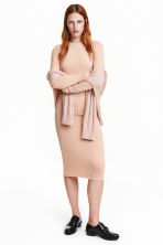 Bodycon dress - Light beige - Ladies | H&M CN 1