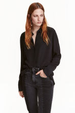 Silk blouse - Black - Ladies | H&M CN 1