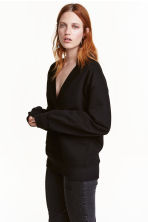 Oversized sweatshirt - Black - Ladies | H&M CN 1
