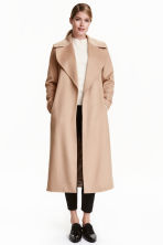 Wool-blend coat - Beige - Ladies | H&M CN 1