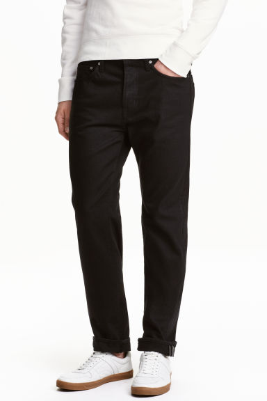 Straight Regular Jeans - Black/No fade black - Men | H&M CN 1