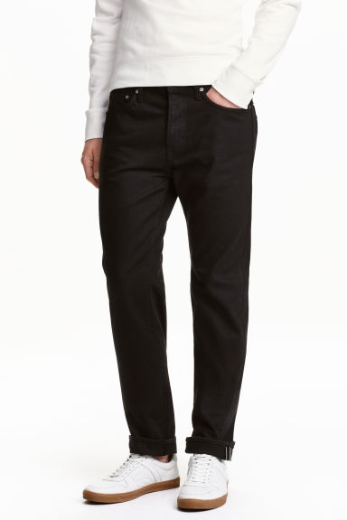 Straight Regular Jeans - Black/No fade black - Men | H&M 1