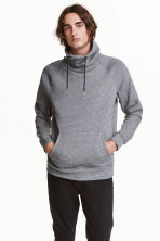 Funnel-collar sweatshirt - Dark grey marl - Men | H&M 1